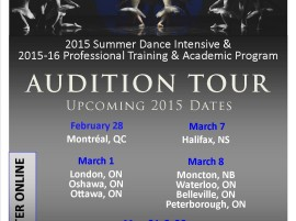 AUDITIONS – QUINTE BALLET SCHOOL OF CANADA