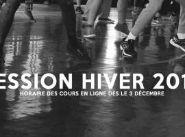 NOUVELLE SESSION HIVER 2016