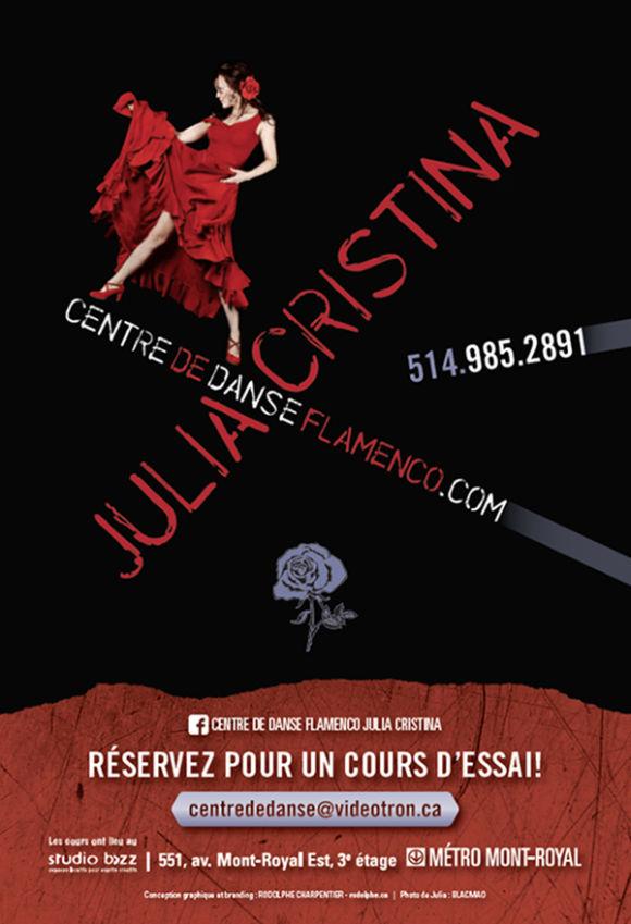 Cours de Flamenco avec le Centre de danse Flamenco Julia Cristina