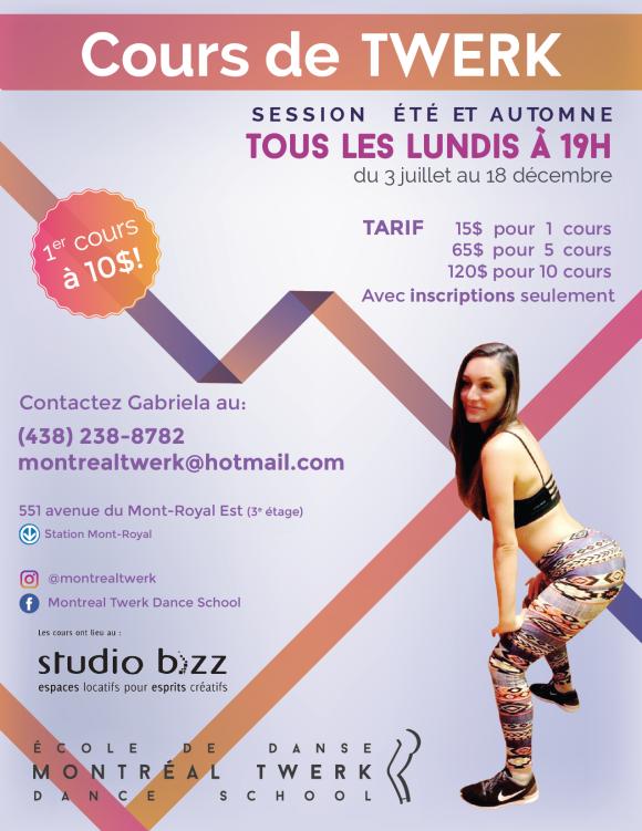Twerk class with Gabriela Marinkeva – Montréal Twerk