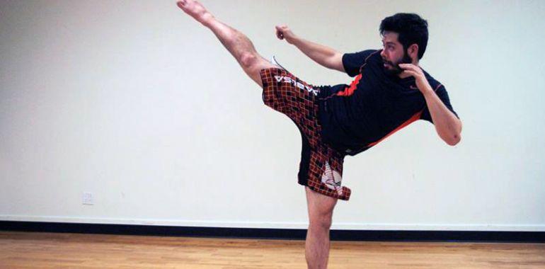 Kickboxing avec Kunthy Chhim