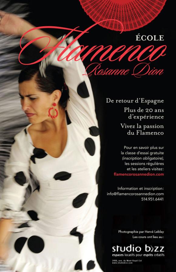 Cours de Flamenco avec l'École Flamenco Rosanne Dion