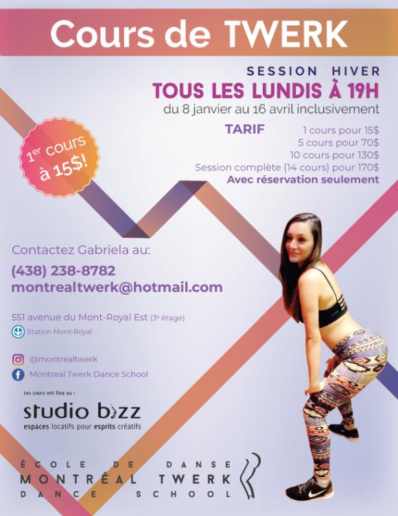 Cours de Twerk avec Gabriela Marinkeva – École de danse Montréal Twerk