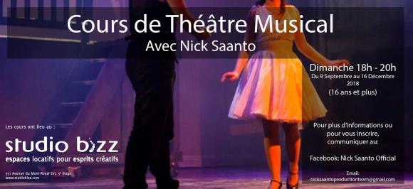 (Français) Théâtre Musical (16 ans +) avec Nick Saanto