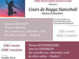 (Français) Ragga Dancehall avec Free Your Mind Dance Class