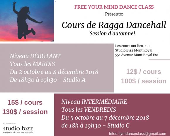 Ragga Dancehall avec Free Your Mind Dance Class