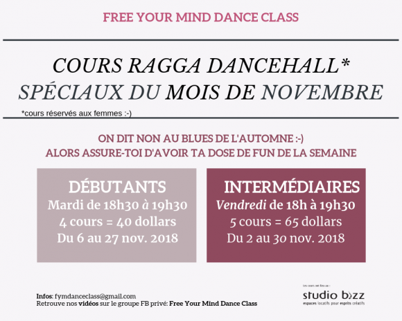 Ragga Dancehall avec Free Your Mind Dance Class