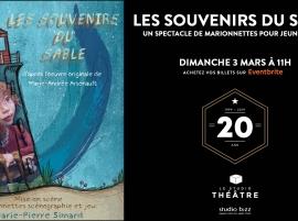 Les souvenirs du sable de Marie-Pierre Simard au Studio Théâtre de Studio Bizz