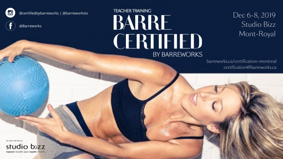 Barre Certified by Barreworks Teacher Training Program