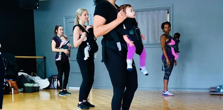 Cardio danse avec bébé avec Bouchra Nida